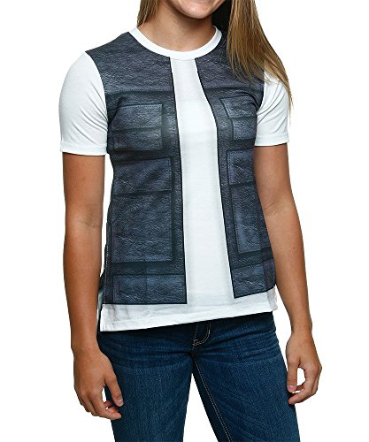 [Star Wars I Am Han Vest Juniors T-Shirt (Medium)] (Han And Leia Costumes)