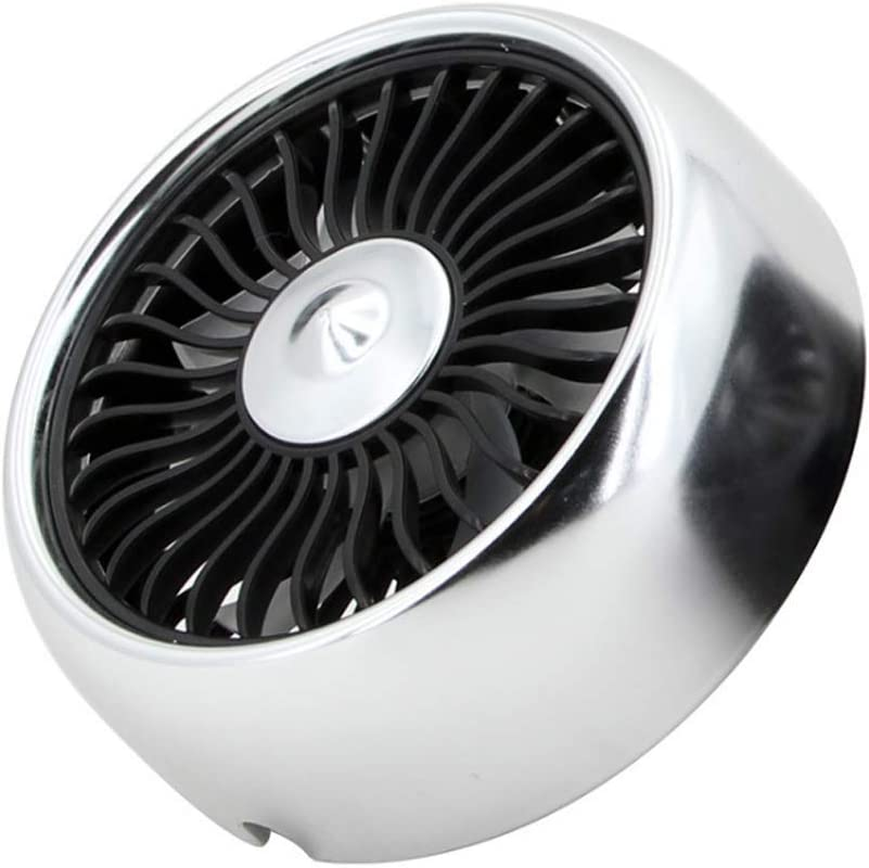 Nicknocks Mini Car /& Desk Fan Mini Car USB Fan Air Vent 3 Speeds Built-in LED Light with Cable Cooling Fan Cooling Fan