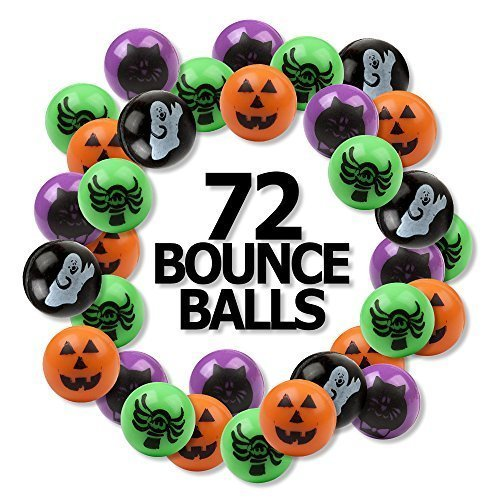 6 Dozen (72) Bright Halloween Bouncing Balls 1