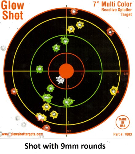 100 pack – 7″ Reactive Splatter Targets – GlowShot – Multi Color – See Your Hits Instantly – Gun, Rifle and Airsoft Targets (100 Pack), Outdoor Stuffs