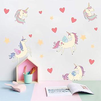 Unicorn Wall Sticker DIY Home Windows Wall Decoration for Nursery Kids Baby  Girls Bedroom Living Room...