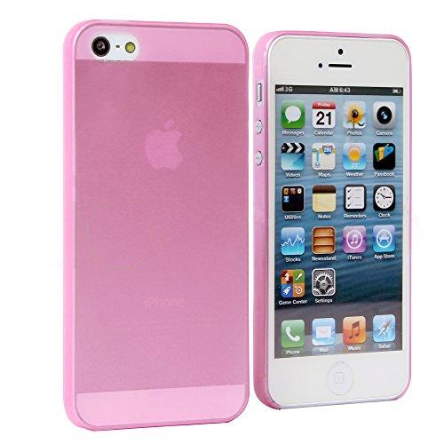 Liamoo ultra dünne Schutzhülle iPhone 5s / 5 Hülle sehr dünn in pink transparent