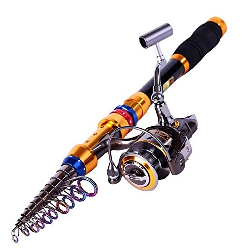 Telescopic Saltwater Freshwater Fishing Rod with Reel Combos (1.8m/5.84ft+DK1000)