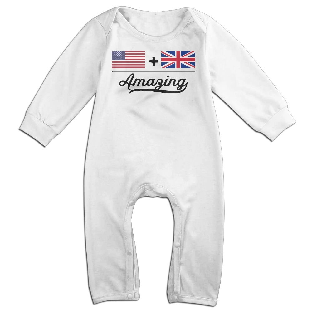 British = Amazing Flag-1 Toddler Jumpsuit Toddler Baby Boy Girl Coverall American
