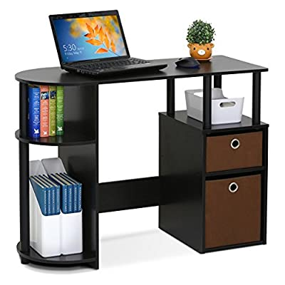 Furinno Jaya Simplistic Computer Study Desk with Bin Drawers