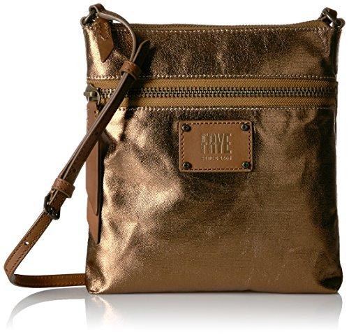 FRYE Ivy Zip Crossbody Nylon Handbag, Bronze , One Size