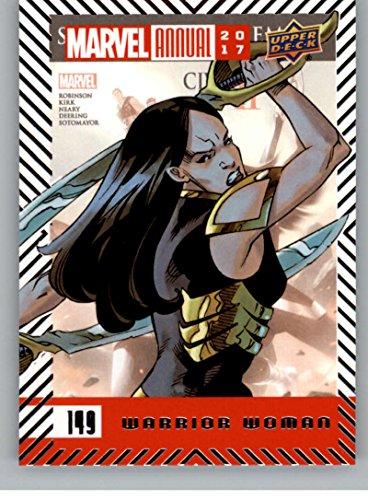 2018 Upper Deck Marvel Annual #149 Warrior Woman SP Short Print Marvel Trading Card Warrior Woman Superhero ()