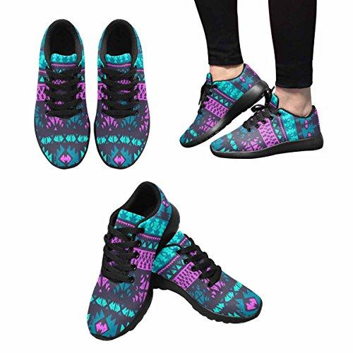 Scarpe Da Corsa Womens Trail Running Da Jogging Leggero Sportivo A Piedi Sneakers Da Ginnastica Neon Color Tribale Navajo Azteco Grunge Astratto Etnico Hipster Multi 1