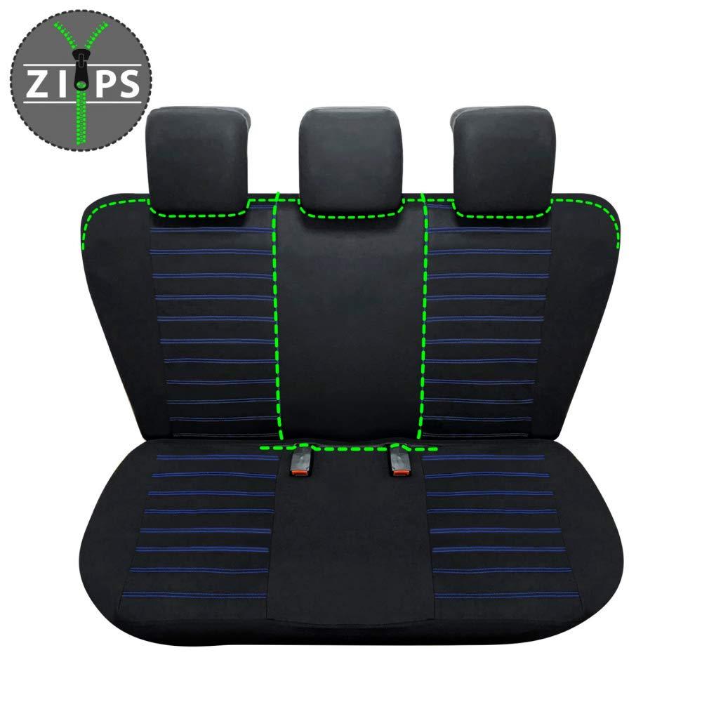 bracciolo Laterale sedili Posteriori sdoppiabili Colore Nero Blu R05S0292 rmg-distribuzione Coprisedili per ix35 Versione compatibili con sedili con airbag 2010-2015