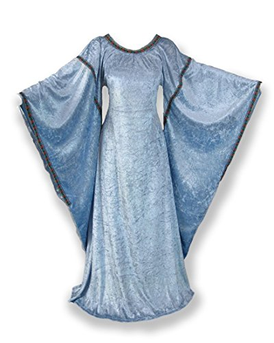 Medieval Bell Sleeve Dress Gown SCA Game of Thrones Cospl...