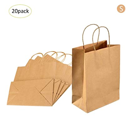 Bloomma 20 Unids Bolsas De Regalo De Papel Kraft Reciclable ...