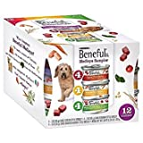 Purina Beneful Medleys Variety Pack Dog Food 12-3 oz. Cans [Contains 4-3 oz. Cans Tuscan Style; 4-3 oz.Cans Romana Style; and 4-3 oz.Cans Mediterranean Style]