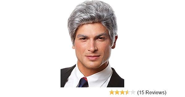 9158bd10dea4c Amazon.com  Mr. President Gray Wig  Clothing