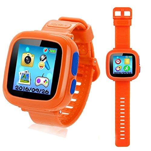 Kids Smart Watch Educational Game Watch Boys Girls Smart Watch Kids Puzzling Games Watches For Kid Boy Girl Learning Toys Age 3-10 Holiday Birthday Gift(orange)