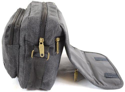 Messenger' Bag Black Travel Shoulder Ladies Green Style 'Small Mens Brown Khaki Work Black Canvas Grey X8Zqn4w