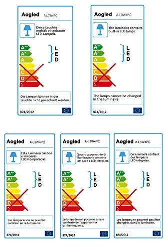 Gartenbeleuchtung LED 4x3W COB Aogled im Freien IP65 Wasserdichter Landschaftslampenscheinwerfer Niederspannung Warmweiß 3000K Dekorative Beleuchtung für Gartenhofweg (4er Pack)