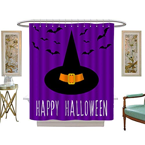 Fabric Shower Curtain Happy halloween card template Abstract