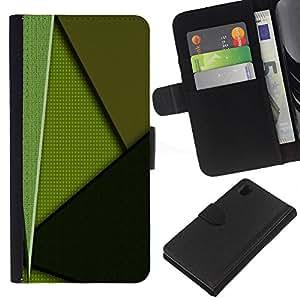 EJOY---La carpeta del tirón la caja de cuero de alta calidad de la PU Caso protector / Sony Xperia Z1 L39 / --Modelo verde