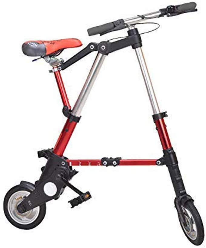 MIRROR SHOP 折り畳み自転車 コンパクト型 折りたたみ 自転車 軽量 小型 MS-ad048 レッド