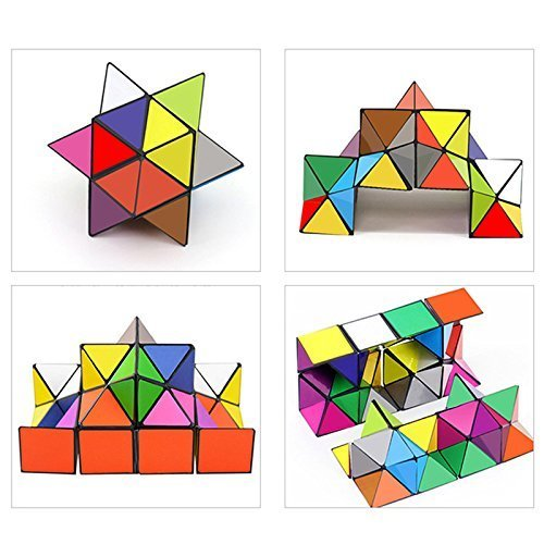 Star Magic Cube - Infinite Cube - 3D Puzzle Toys for Teens Adults - Kids Puzzle - To How Out Figure Shape Face