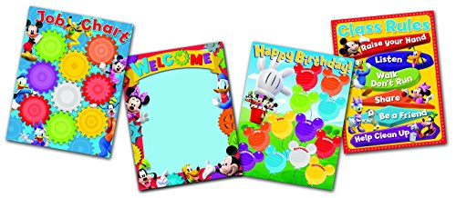 Eureka Back to School Mickey Mouse Job Chart Mickey Mouse Decorations, 0.1'' x 18'' x 28'', 4 pc ()