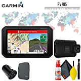 """Garmin RV 785 & Traffic, Advanced GPS Navigator for RVs with Built-in Dash Cam, 7"""" Touch Display and Voice-Activated Navigation Travel Accessory Kit"""