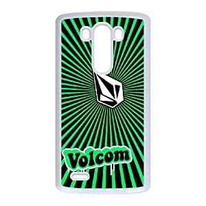 Popular And Durable Designed TPU Case with Volcom For LG G3 Cell Phone Case White