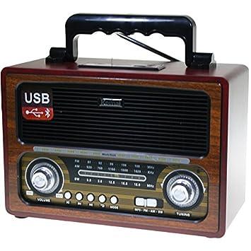 Radio estéreo con Bluetooth y Lector de USB y tarjetas de memoria ...