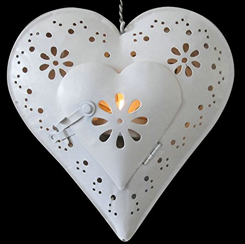 Best Candle Holder Iron Heart - Beautiful Vintage Style Centerpiece With Love Quote - Romantic Gift For Wedding, Engagement & Valentine's Day