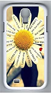 Samsung Galaxy S4 I9500 White Hard Case - Loves Me Galaxy S4 Cases