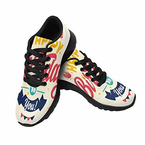 Interesse Per Le Donne Da Jogging Corsa Sneaker Leggero Go Easy Walking Comfort Sport Scarpe Da Corsa Retro Compleanno Multi 1