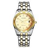LONGBO Luxury Gold Plated Stainless Steel Strap Business Watches Datejust Lady Dress Watch Slim Alloy Dial Auto Date Waterproof Women Quartz Wrist Watch