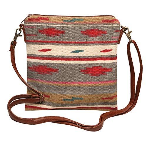 Pine Creek Women's Prairie Star Crossbody Bag, Southwest Cotton Handbag Purse - Slate ()