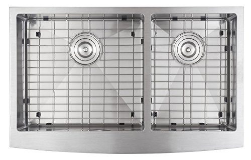 33x21 Inch Farmhouse Apron 60/40 Deep Double Bowl 16 Gauge Stainless Steel Luxury Kitchen Sink SuperSuper by SuperSuper (Image #1)