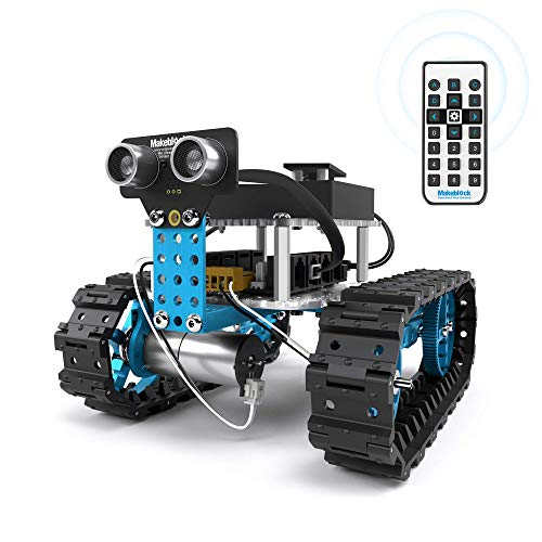 Makeblock Starter Robot Kit, DIY 2 in 1 Advanced Mechanical Building Block, STEM Education to Learn Robotics, Electronics and Program. (IR Version)]()