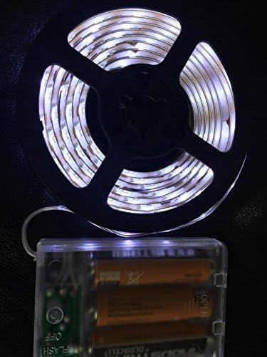 HLS 120LED Tira de luz LED a batería a prueba de agua en Blanco: Amazon.es: Iluminación