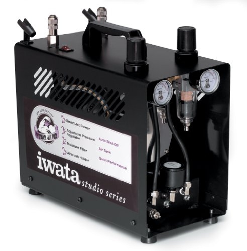 (Iwata-Medea Studio Series Power Jet Pro Double Piston Air Compressor )