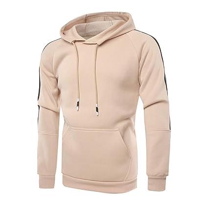 8de7cb975 Amazon.com: Easytoy Essentials Men's Hooded Sweatshirt (Khaki, Asian  Size:XXL)