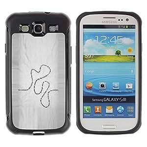 Suave TPU GEL Carcasa Funda Silicona Blando Estuche Caso de protección (para) Samsung Galaxy S3 III I9300 / CECELL Phone case / / Present Life Education Learning Quote Road /