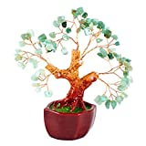 Feng Shui Gemstone Tree of Happiness with Green Jade Gemstones-29129.