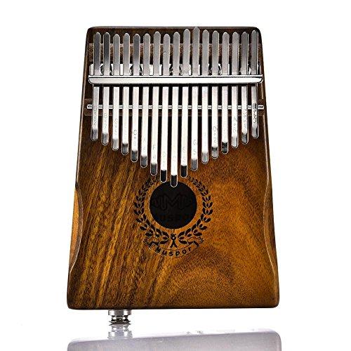 Portable 17 Keys EQ Kalimba Thumb Piano Solid Finger Piano With Mineral Steel Tuner Hammer Acacia body by Muspor