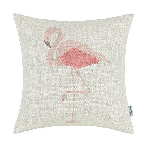 [Euphoria CaliTime Cushion Cover Throw Pillow Shell, 18 X 18 Inches, Hawaii Style Pink Flamingo] (Flamingo Throw)