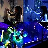 Eyourlife 6x3W LED Blacklights UV Bar Black Lights Fixture for Party DJ Stage Lighting Metal Housing Black (1 Pack 6x3W LED Blacklights)