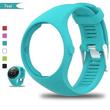Bemodst® para Polar M200, correa de silicona para reloj inteligente, color Azul verdoso: Amazon.es: Deportes y aire libre