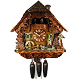 German Cuckoo Clock 8-day-movement Chalet-Style 16.00 inch - Authentic black forest cuckoo clock by August Schwer