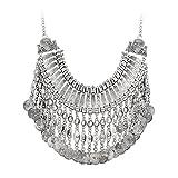 Jane Stone Vintage Chunky Boho Fringe Cluster Drop Collar Bib Necklace Statement Tassel Tribal Jewelry