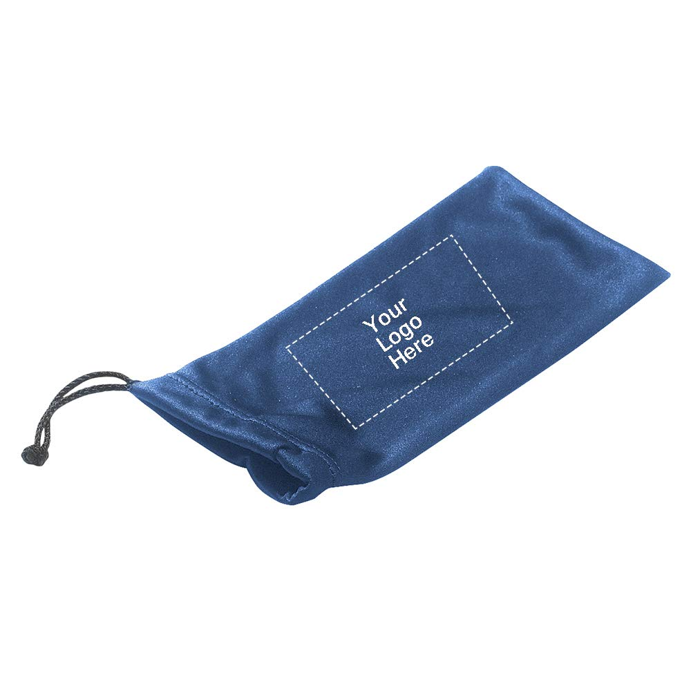 Microfiber Pouch with Drawstring |250 Qty |1.12 Each | Promotional Product Royal Blue by Promo Direct