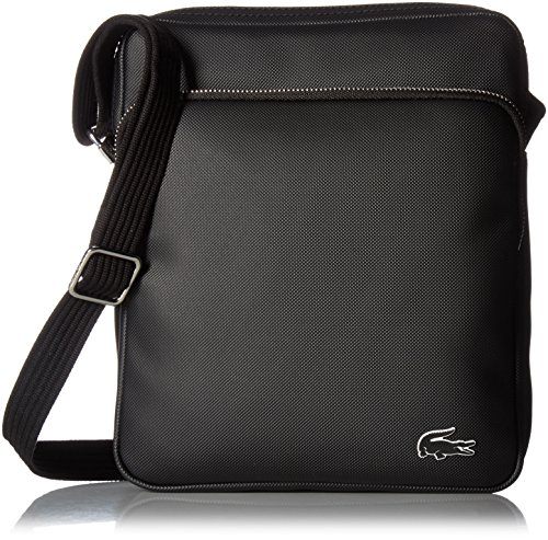 Lacoste Men's Crossover Bag with Pockets, Black by Lacoste