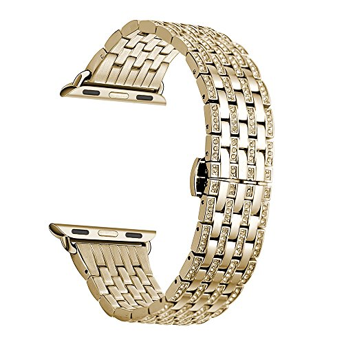 Kartice Rhinestone Stainless Bracelet 38mm Gold