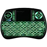 iPazzPort 3-color Backlit Wireless Mini Keyboard and Mouse Touchpad for Raspberry Pi 3 Windows, Android, Google, Smart TV, Linux, Mac  KP-810-21SDL-RGB